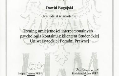 Studencka Uniwersytecka Poradnia Prawna – trening umiejętności interpersonalnych