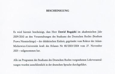 Studium Prawa Niemieckiego