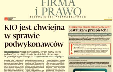 Gazeta Prawna 28 MARCA 2017 NR 61 (4460) – dodatek Firma i Prawo